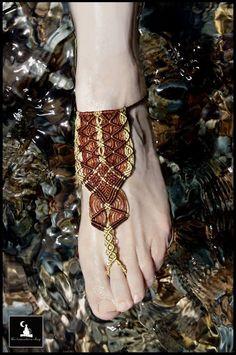 Macrame barefoot sandal, macrame anklet, summer accessories, beach jewelry, gypsy jewelry, bohemian jewelry, macrame jewelry, hippie jewelry