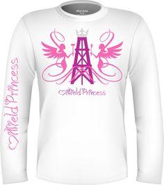 Oilfield Princess Shirt Oilfield Man, Oilfield Trash, White Long Sleeve, Graphic Sweatshirt, Tank Tops, Sweatshirts, Sweaters, Pink, Clothes
