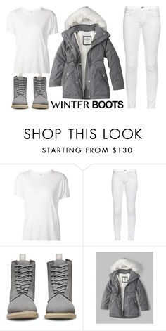 """""""winter boots"""" by j-n-a ❤ liked on Polyvore featuring R13, rag & bone, Dr. Martens, Abercrombie & Fitch, Winter, Boots, winterboots and polyvorecontest"""