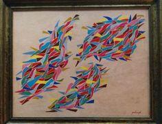 Robert Goodnough American Oil Painting Signed Framed US Reseller 1950's Artwork #art #interiordesign #hamptons #fineart #nycinteriordesign #NYC #luxury #decor #homedesign #homedecor ➤ https://goo.gl/3bEJHv