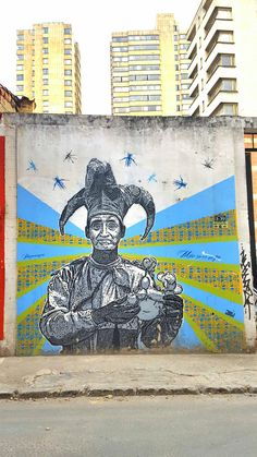 One of DJLU's infamous Murals in Colombia's Capital, Bogotá. The South American City is known for its great Street Art scene. Learn more about it!