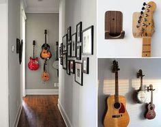 Como integrar os seus instrumentos musicais na decoração ;) Home Music Rooms, Music Studio Room, Home Studio, Casa Milano, Sweet Home, Guitar Room, Music Wall, Music Decor, Green Rooms