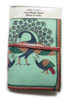 Peacock Personal Journal Indian Art Recycled by IndianJournals, $5.99