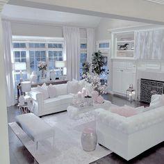 ✔ 63 best master bedroom ideas luxury home interior designs 33 - Home Decor Romantic Living Room, Glam Living Room, Living Room Decor Cozy, Elegant Living Room, Living Room White, Interior Design Living Room, Living Room Designs, Living Rooms, Bedroom Designs