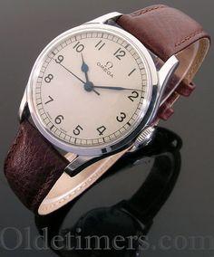 1940s round steel vintage Omega watch (3945)