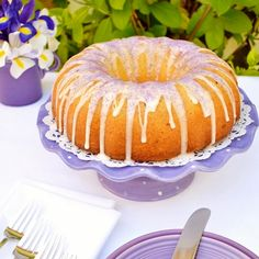 Lavender Lemon Pound Cake - This makes a truly delicious and moist bundt cake, as well as cupcakes Cake Cookies, Cupcake Cakes, Bundt Cakes, Cupcakes, Cake Recipes, Dessert Recipes, Dessert Ideas, Cake Ideas, Yummy Treats
