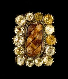 Anonymous mourning brooch with paste jewels, circa 1800. © Ann Longmore-Etheridge Collection | Flickr - Photo Sharing!