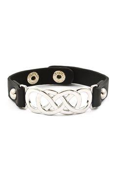 Triple Infinity Bracelet in Silver