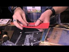 ▶ Tim Holtz demos 3 Texture Pastes from Ranger - CHA 2015 - YouTube