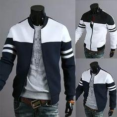 Free shipping hot men's jacket fashion ribbon decoration stitching design jacket large size fashion