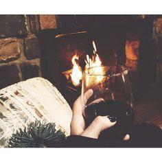 Lazy Saturday night. Wine, good company & laughter.. fireside.  #lakelife #lakewallenpaupack #makingmemories