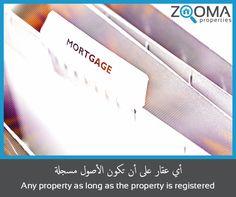 """ ما هي الممتلكات القابلة للرهن وفقاً للقانون ؟ "" / ""What are the properties that are subject to mortgage according to the law?"" -  المصدر / Source : دائرة الاراضي و الأملاك / Dubai Land Department"