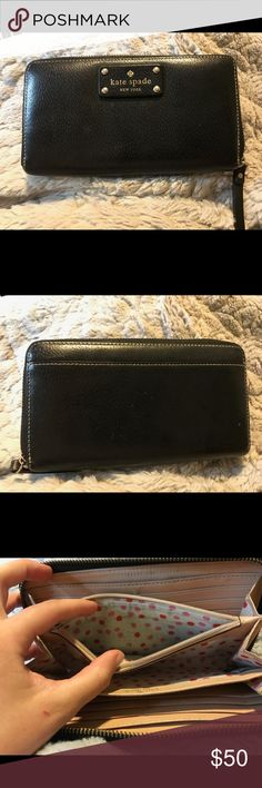 Kate Spade Wallet Gently used, zippers work well kate spade Bags Wallets