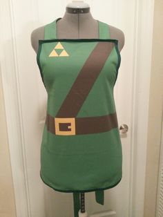 Legend of Zelda Link inspired apron. $40.00, via Etsy.