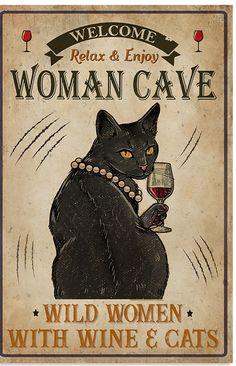 Crazy Cat Lady, Crazy Cats, Black Cat Art, Black Cats, Cat Posters, All About Cats, Cat Quotes, Cat Memes, Cat Love