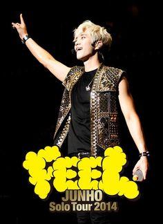 """2014年JUNHO (From 2PM)ソロツアーファイナルとなった東京日本武道館公演の模様を収録したLIVE DVD & Blu-Ray「JUNHO Solo Tour 2014 """"FEEL""""」!本日6月24日(水)発売日!"""