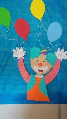 #Palhaço #EVA #Aniversário #Festa #Colorindo #Alegria #Diversão #Balão #DIY #Artesanato