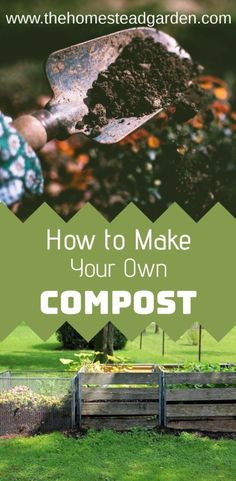 Learn how to make your own compost. Making compost is a sustainable way to make healthy soil for your garden from kitchen scraps and livestock/yard waste. Grow Your Own Food, Make Your Own, Make It Yourself, Garden Compost, Garden Soil, Box Garden, Shade Garden, Dream Garden, Garden Landscaping