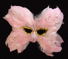 Pink with Pink Butterflies Venetian Butterfly Feather Mask Mardi Gras Masquerade Halloween Costume Feathers by Mardi Gras World, http://www.amazon.com/dp/B009XH9OXU/ref=cm_sw_r_pi_dp_sPW7qb09XAGBN