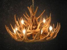 Antler Chandelier by Cast Horn Designs #chandelier #antler lighting #rustic decor