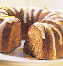 Orange Glazed Carrot Pineapple Cake