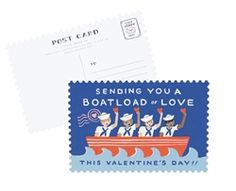 Rifle Paper Co. Boatload of Love Postcards at Northlight Hallmark Holidays, Rifle Paper Co, Wedding Stationery, Valentine Day Gifts, Goodies, Greeting Cards, Love, Birthday, Fun