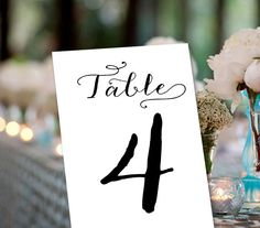 Wedding Table Number Set of 25 Wedding Events by weddingfusion