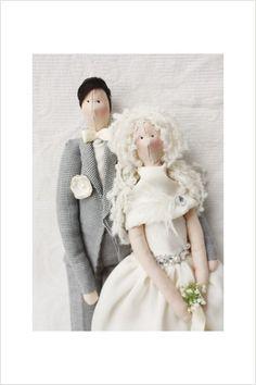 Retrato personalizado de muñeca Tilda, boda, Handmade Unido por Valeria Olsson
