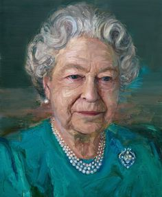 Queen Elizabeth II, accompanied by Prince Philip, Duke of Edinburgh attended a Co-Operation Ireland reception at Crosby Hall on November 2016 in London. During the reception Queen Elizabeth unveiled a portrait of herself by artist Colin Davidson. Elizabeth Philip, Queen Elizabeth Ii, Commonwealth, Colin Davidson, Martin Mcguinness, Adele, English Royal Family, Isabel Ii, Oil Portrait
