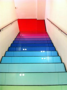 stairs coloured glass