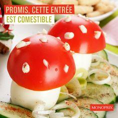 tomatoes and mozza Creative Food, Kids Meals, Stuffed Mushrooms, Eggs, Breakfast, Tomatoes, Diy, Stuff Mushrooms, Morning Coffee