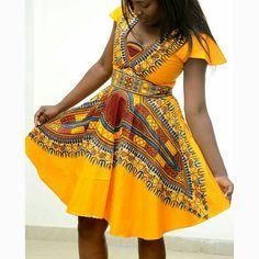 African Print Dashiki dress - The Angelina dashiki Dress, 100% Vlisco Holland…