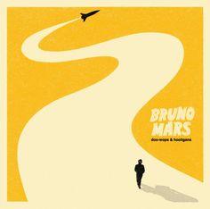 """Doo-wops & Hooligans"". Bruno Mars. Album art. Design by Nick Bilardello."