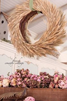 Wheat wreath - French Country Cottage