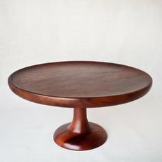 Acacia Footed Cake Stand