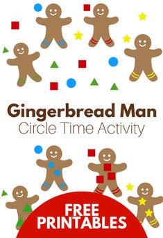 Gingerbread Man Activity for Circle Time Explore shapes with this gingerbread man activity for preschool. Get into the holiday spirit with this fun shape matching activity. Gingerbread Man Crafts, Gingerbread Man Activities, Circle Time Activities, Holiday Activities, Summer Activities, Christmas Activities For Preschoolers, Toddler Activities, Preschool Themes, Preschool Lessons