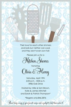 Kitchen Gleam Invitations