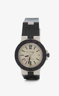 BVLGARI Black And Silver Watch
