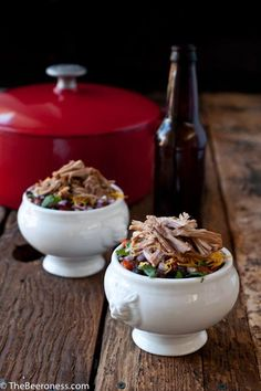 Pork Recipes : Stout Braised Pulled Pork Chili