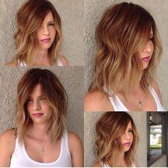 auburn+and+golden+blonde+balayage