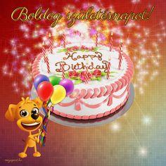 Boldog születésnapot! - Megaport Media Animated Ecards, Animated Gifs, Happy Birthday Emoji, Birthday Cake, Share Pictures, Love You Forever, Halloween, Diy, Animation