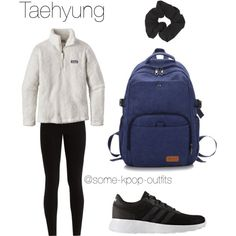 Hiking with Taehyung by some-kpop-outfits on Polyvore featuring polyvore, fashion, style, Patagonia, Balenciaga, adidas, Forever 21 and clothing