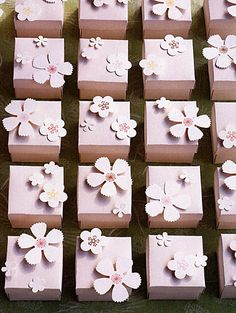 Beautiful favor boxes