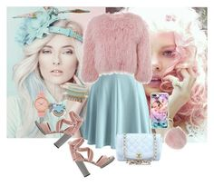 """""""Pastels Blue&Pink"""" by ygarcia21 ❤ liked on Polyvore featuring Chicwish, Charlotte Simone, ALDO, Valentino, Casetify, Dorothy Perkins, Nylon Sky, Komono and Chanel"""