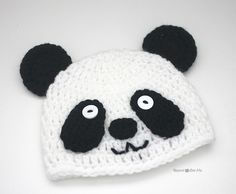 Free Crochet Baby Panda Hat Pattern : Osos panda, a crochet (amigurimi) AMIGURUMI FASHION ...
