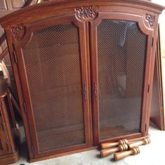 Add Legs to a Hutch to Turn It Into a China Cabinet