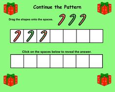 Interactive Smartboard Patterning/Graphing Activities for Christmas Theme Graphing Activities, Math Games, Christmas Math, Christmas Themes, K 1, Fun Math, Math Lessons, Math Centers, Ideas
