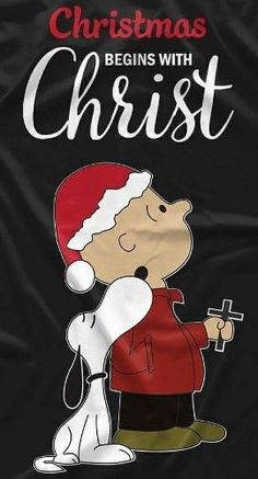 Christmas - Charlie Brown & Snoopy - Christmas Begins With Christ Snoopy Et Woodstock, Snoopy Love, Peanuts Snoopy, All Things Christmas, Christmas Holidays, Merry Christmas, Funny Christmas, Christmas Scenes, Christmas Animals