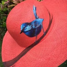 Shop Our Ecuadorian Panama Hats Painted Hats, Painted Clothes, Hand Painted, Hat Decoration, Fancy Hats, Love Hat, Fabric Painting, Hats For Women, Panama Hat