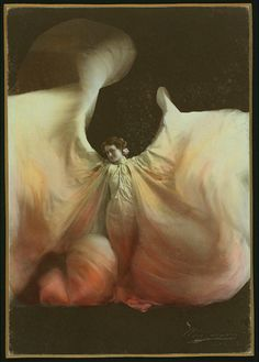 Loie Fuller imitator / photograph by Marceau.  Los Angeles,  [between 1890 and 1909